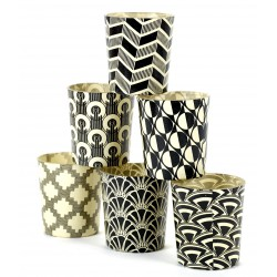 6 Candle Jars Black and White Serax