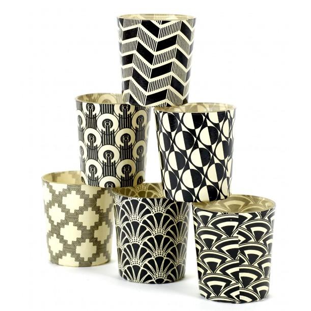 6 Candle Jars Black and White Serax