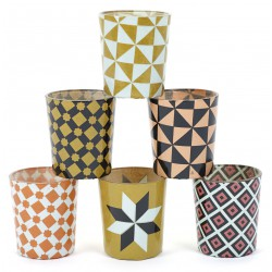 6 Candle Jars Carreau Serax