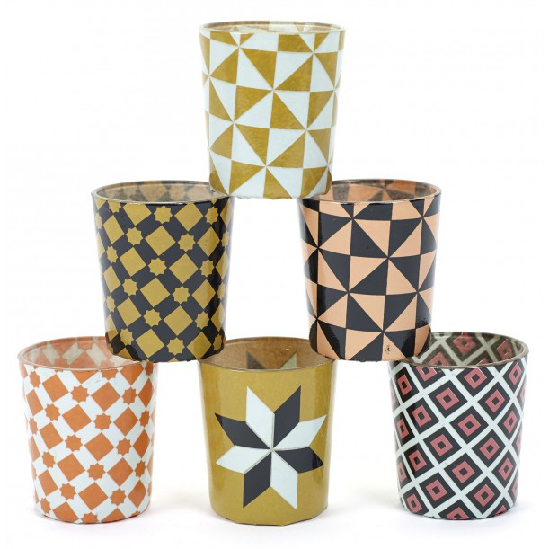 6 Candle Jars Carreau Serax
