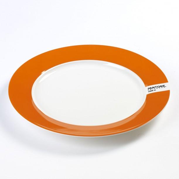 Large Plate Orange 1505C Pantone Diam 30 cm Serax
