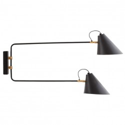 Wall Lamp Club Double Brass and Black House Doctor