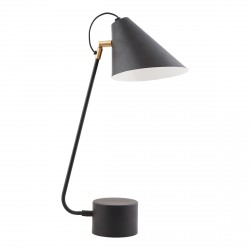Lampe de table Club Noir et Laiton House Doctor
