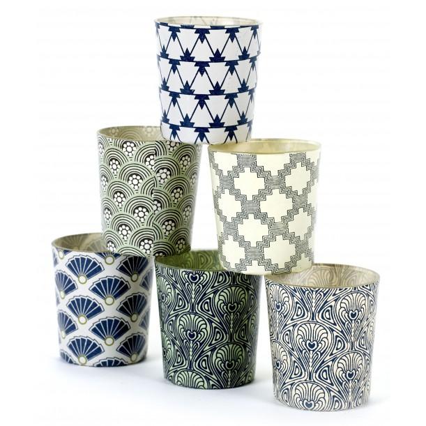 6 Candle Jars Nuances Blue Green Serax