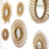 Small Rattan Vintage Mirror Elipse Bakker