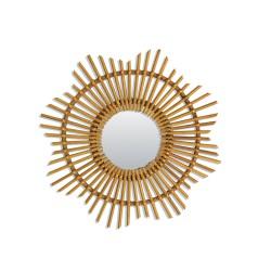 Small Rattan Vintage Mirror Sun Bakker