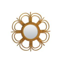 Petit Miroir Vintage Daisy Rotin Bakker
