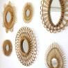 Small Rattan Vintage Mirror Soleil Bakker