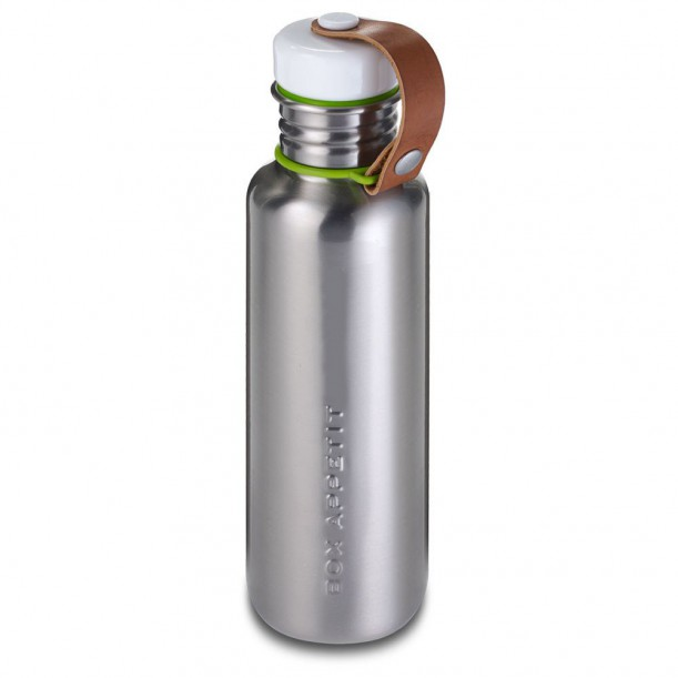 Large Stainless Steel Bottle Black + Blum