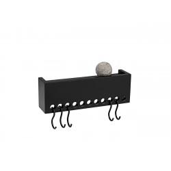 Patère Etagère So Hooked Wall Rack Mini Noir Nomess Copenhagen