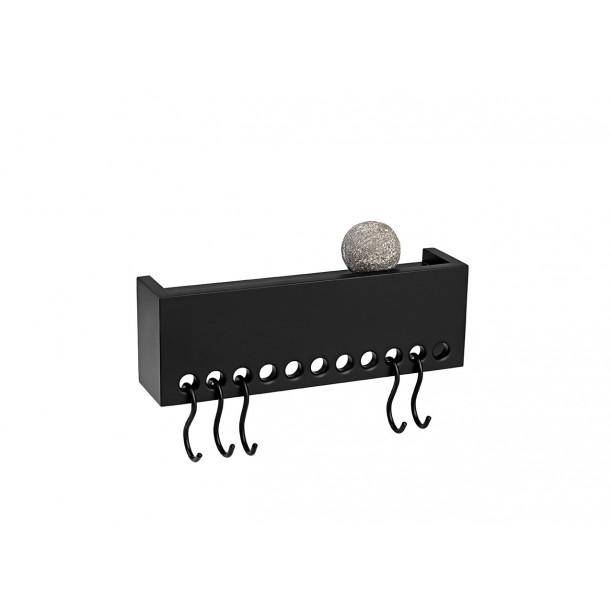 So Hooked Wall Rack Mini Black Nomess Copenhagen