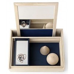 Jewelry Box Beauty Station Balsabox Natural and Blue Nomess Copenhagen