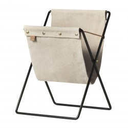 Magazine Stand Herman Black Ferm Living