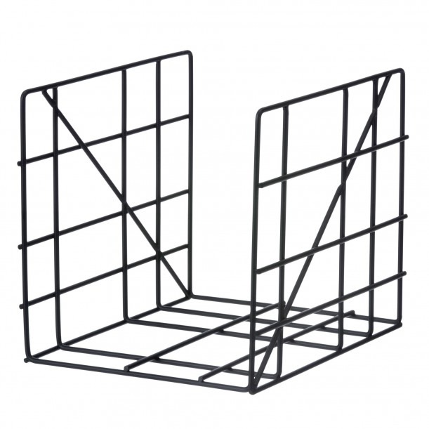Magazine Holder Square Black Ferm Living