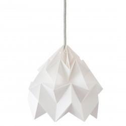 Petite Suspension Origami Moth Blanche Diam 20 cm Snowpuppe
