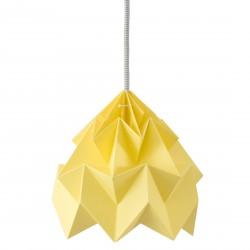 Moth Origami Pendant Autumn Yellow Diam 20 cm Snowpuppe