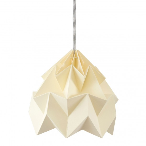 Moth Origami Pendant Canary Yellow Diam 20 cm Snowpuppe