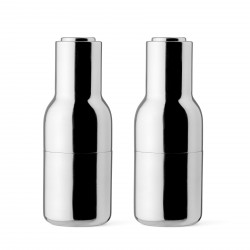 Bottle Grinder Mirror Polished Stainless Steel Menu
