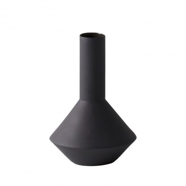 Vase Sculpt Pod Dark Grey Diam 12 x H 18 cm Ferm Living