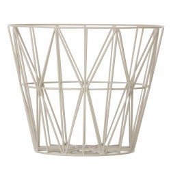 Wire Basket Grey Large Ferm Living
