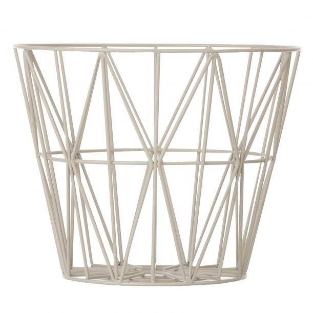 Wire Basket Grey Large Ferm Living