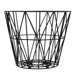 Wire Basket Black Large Ferm Living