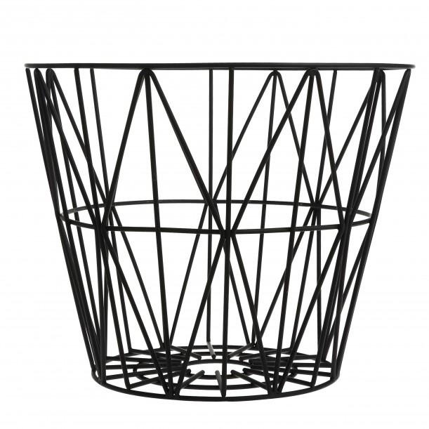 Wire Basket Black Large Ferm Living