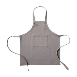 Kids Apron Grey Canvas Ferm Living