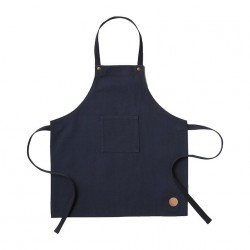 Kids Apron Blue Canvas Ferm Living