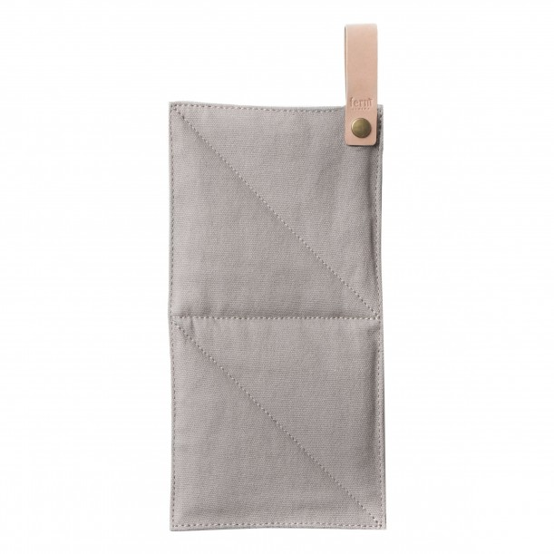 Pot Holder Grey Quilted Canvas Ferm Living