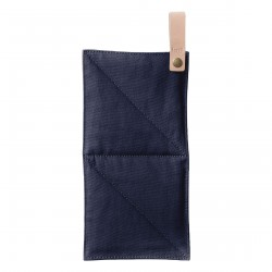 Pot Holder Blue Quilted Canvas Ferm Living