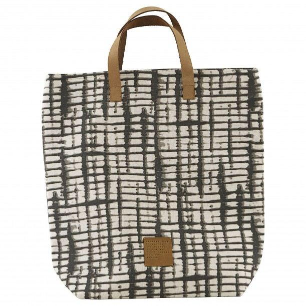 Sac Cabas Batik Anthracite 41 x 38 cm House Doctor