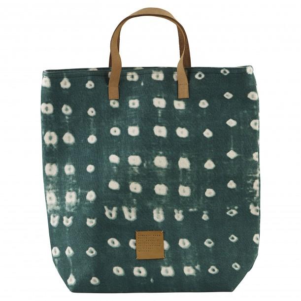 Shopping Bag Dots Green 41 x 38 cm House Doctor