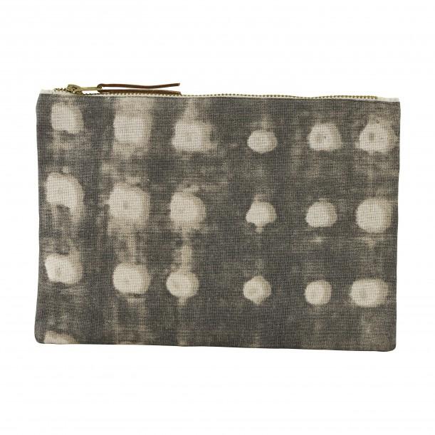 Pochette Dots Gris 23 x 16 cm House Doctor