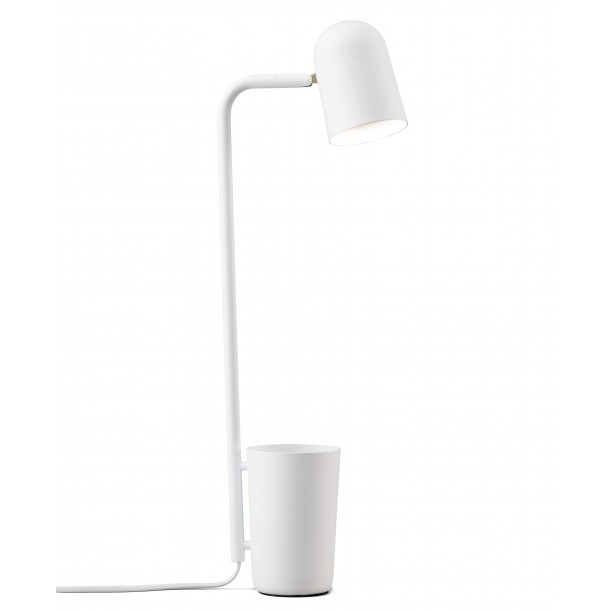 Lampe de Table Buddy Blanc en Métal avec Pot Northern Lighting
