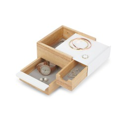 Mini Stowit White Jewelry Box Umbra