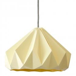 Suspension Origami Chesnut Jaune Canari Diam 28 cm Snowpuppe