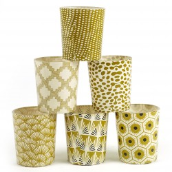 6 Candle Jars Gold Pattern Serax