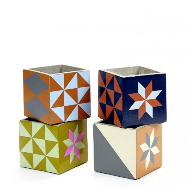 4 Concrete Pots Marie 11 x 11 x 11 cm Serax