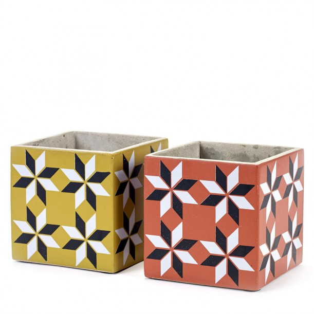2 Concrete Pots Marie Carreau Vintage 13 x 13 x 13 cm Serax