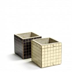 2 Concrete Pots Marie Mosaic 11 x 11 x 11 cm Serax