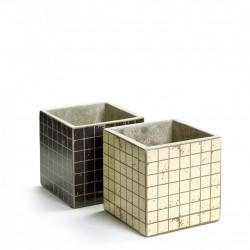 2 Pots Béton Cubique Marie Mosaïque 13 x 13 x 13 cm Serax