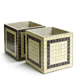 2 Concrete Pots Marie Mosaic Square 17 x 17 x 17 cm Serax