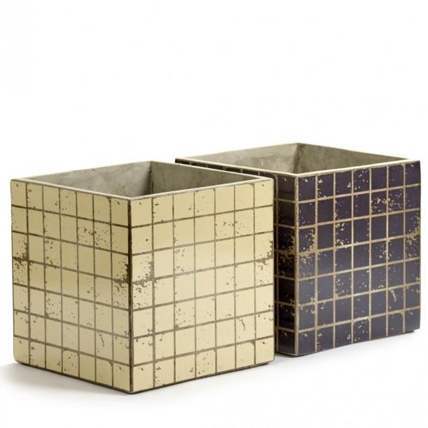 2 Concrete Pots Marie Mosaic 22 x 22 x 22 cm Serax