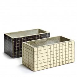 2 Concrete Jardinieres Marie Mosaic 23 x 11 x 11 cm Serax