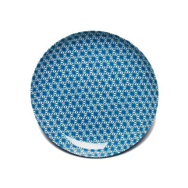 Assiette X Bleue