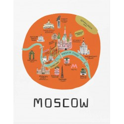 Affiche Moscou Rifle Paper