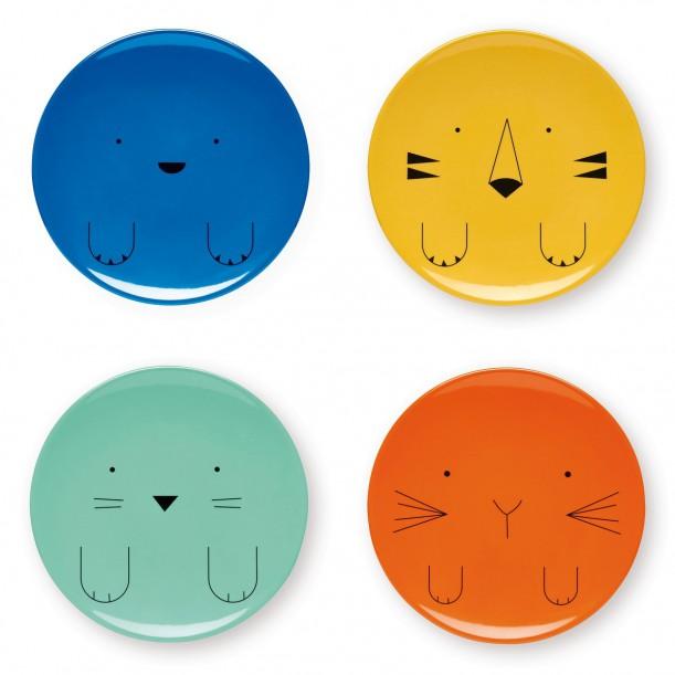 4 Animals Plates melamine Bandjo