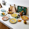 4 Assiettes Summertime Mélamine Mr & mrs Clynk