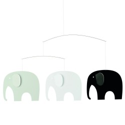Mobile Elephants Grey Flensted Mobiles